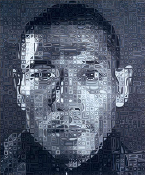 Chuck Close - Zhang Huan II