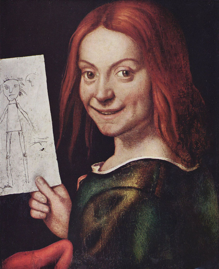Giovanni Francesco Caroto - Red-headed youth holding a drawing2