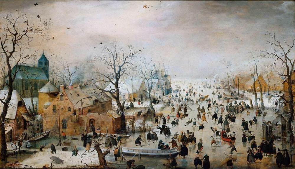 Hendrick Avercamp - Winter Landscape with Iceskaters