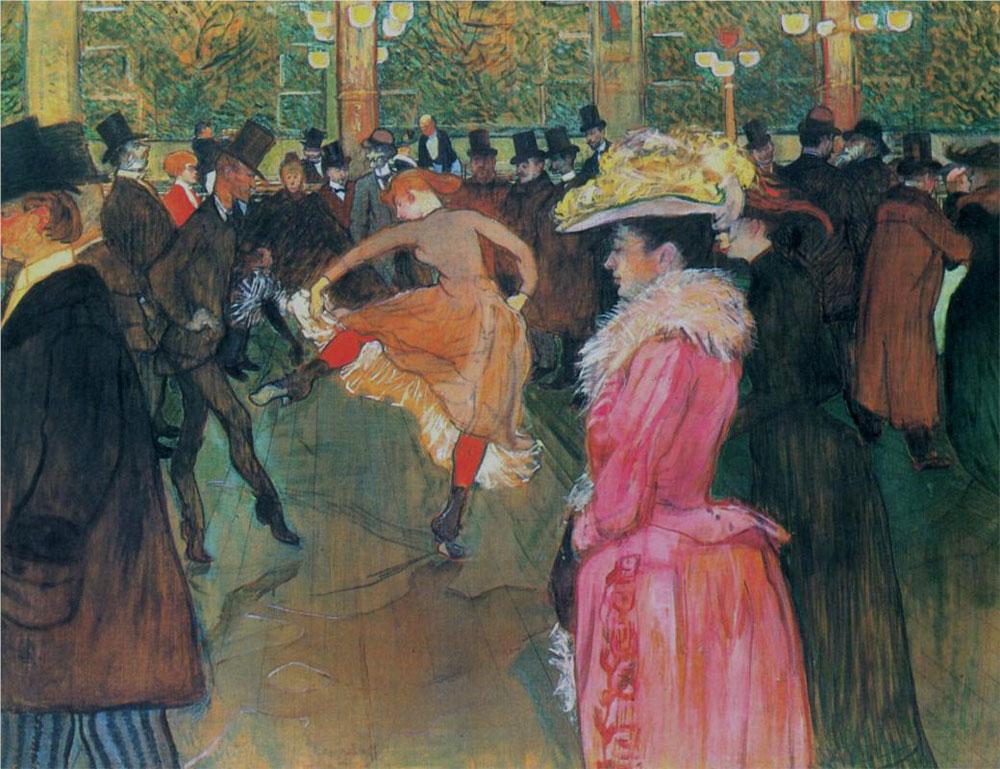 Henri de Toulouse-Lautrec - At the Moulin Rouge, The Dance