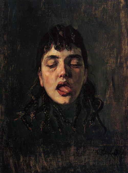 Wilhelm Trubner - A Gorgon's Head