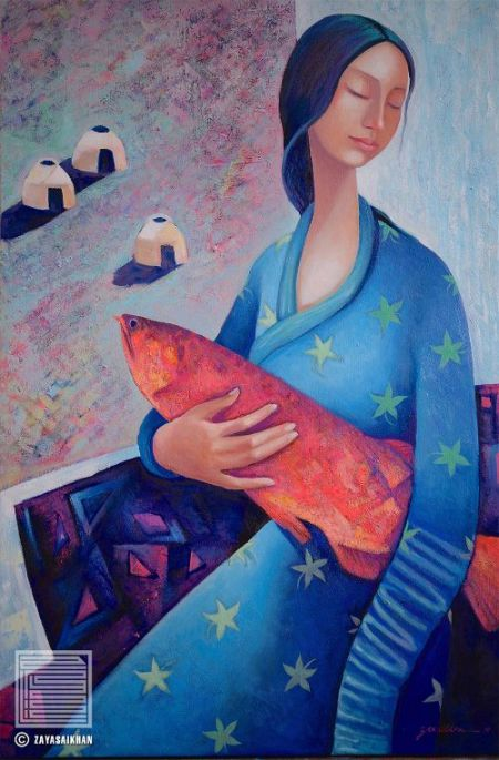 Zaya - Woman with Fish