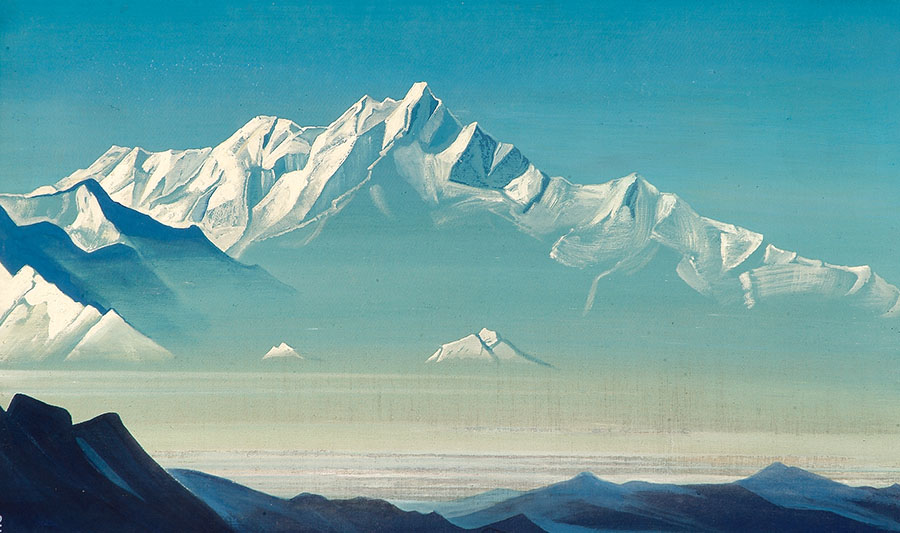 Nicholas Roerich - Mount of Five Treasures (Two Worlds)