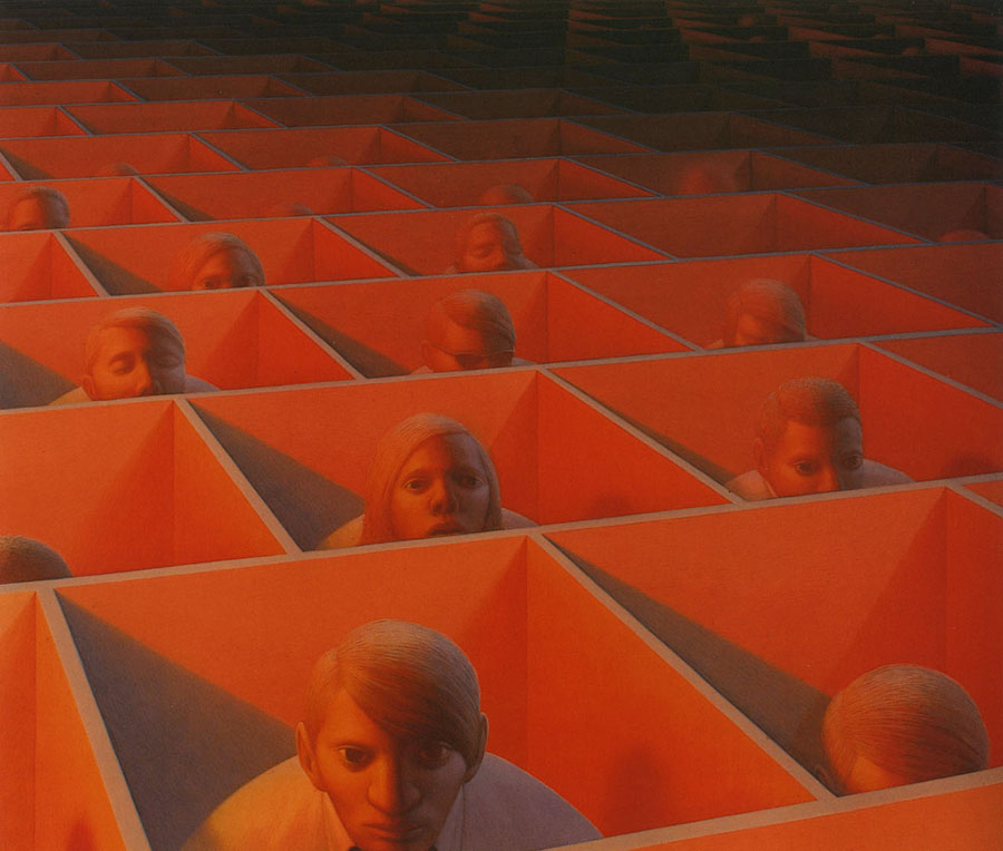 George Tooker - Landscape with Figures