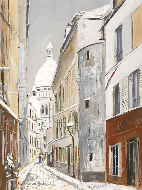 Maurice Utrillo - Sacré-Coeur de Montmartre, and the rue Saint-Rustique
