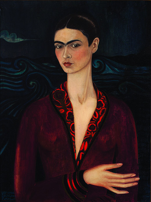 Frida Kahlo - Self-portrait in a Velvet Dress