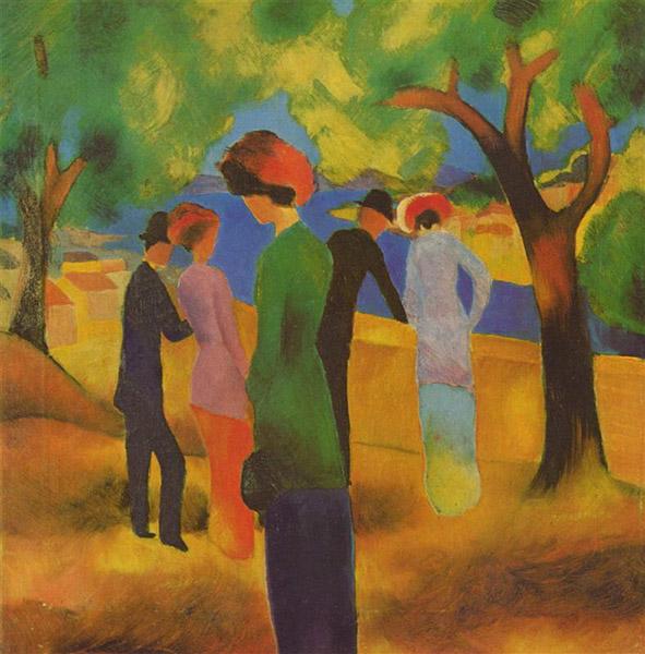 August Macke - Woman in a Green Jacket
