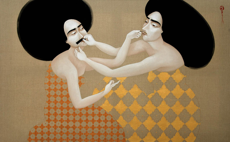 Hayv Kahraman - Hold Still (2010), oil on linen