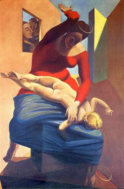 Max Ernst - The Virgin Spanking the Christ Child before Three Witnesses