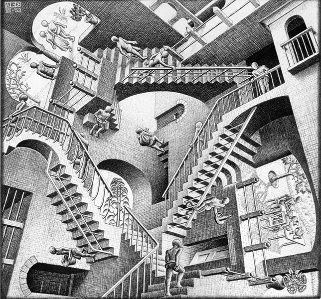 MC Escher - Relativity