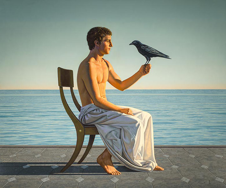 David Ligare - Man with Crow