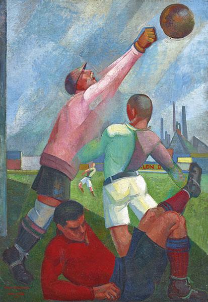 Angel Zarraga - Futbolistas en el llano