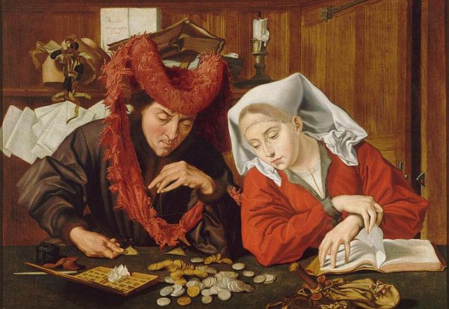 Marinus van Reymerswaele - The Moneychanger and his Wife (1538)