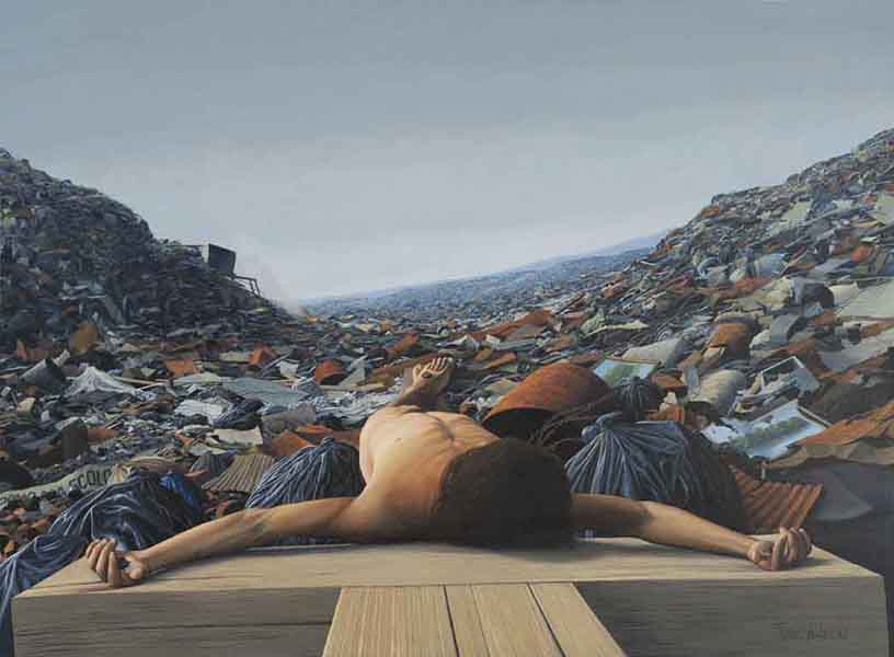 Tomás Sánchez – Man Crucified in a Dump (1992)