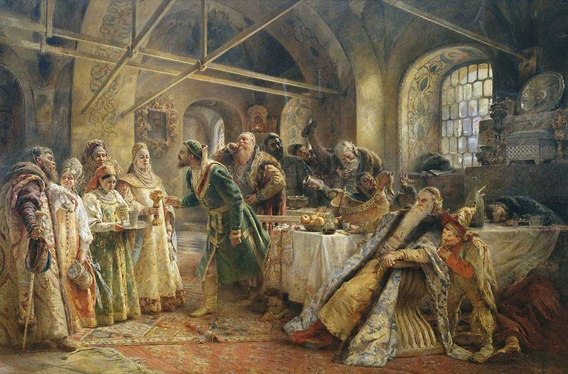 Konstantin Makovsky - The Kissing Ceremony