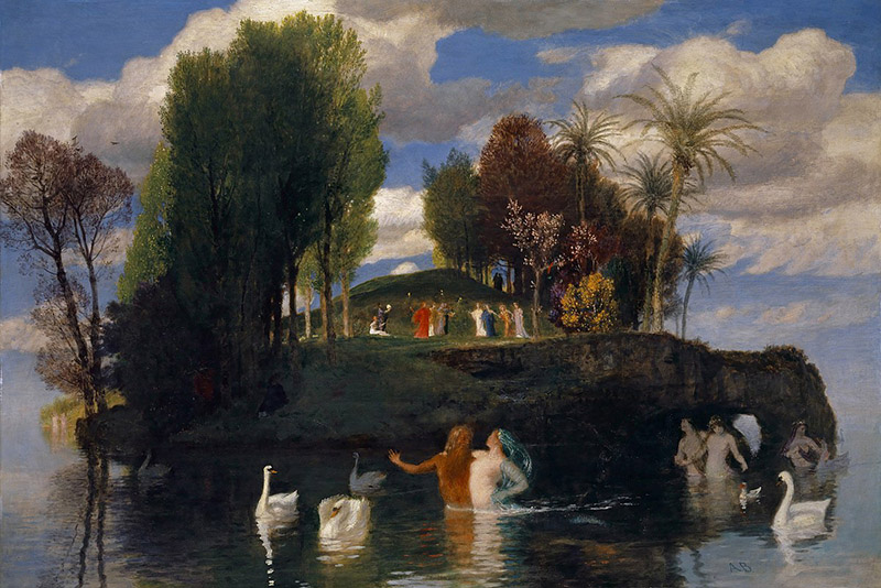 Arnold Böcklin - The Island of Life (1888)