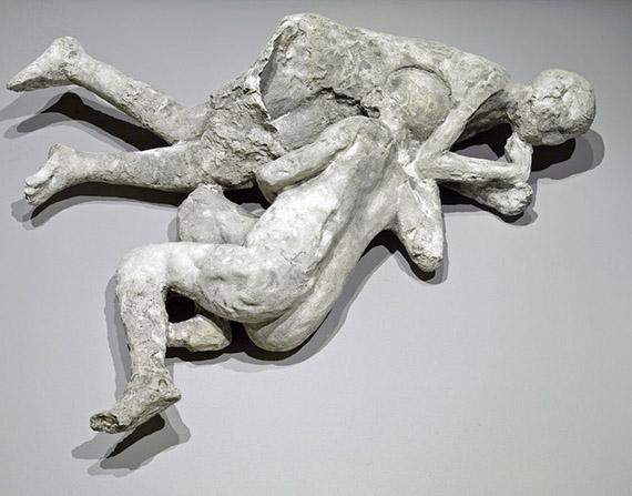 Plaster figures of Pompeii