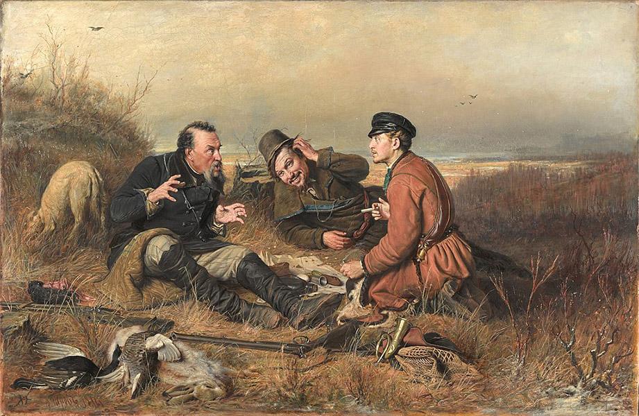 Vasily Perov - Hunters at Rest