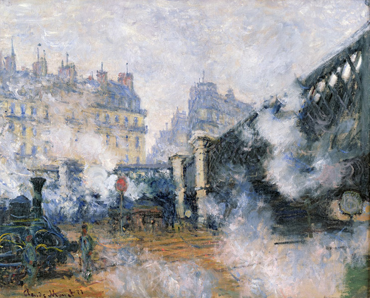 Claude Monet - Pont de l'Europe, Gare Saint-Lazare