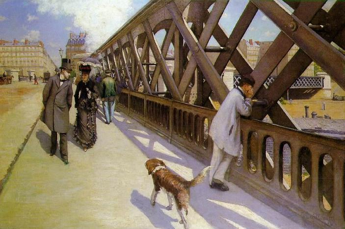Gustave Caillebotte - Le Pont de l'Europe (1876), oil on canvas