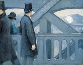 Gustave Caillebotte - On the Pont de l'Europe (1876 - 1877), oil on canvas