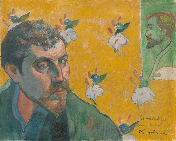 Paul Gauguin- Self-portrait with portrait of Emile Bernard