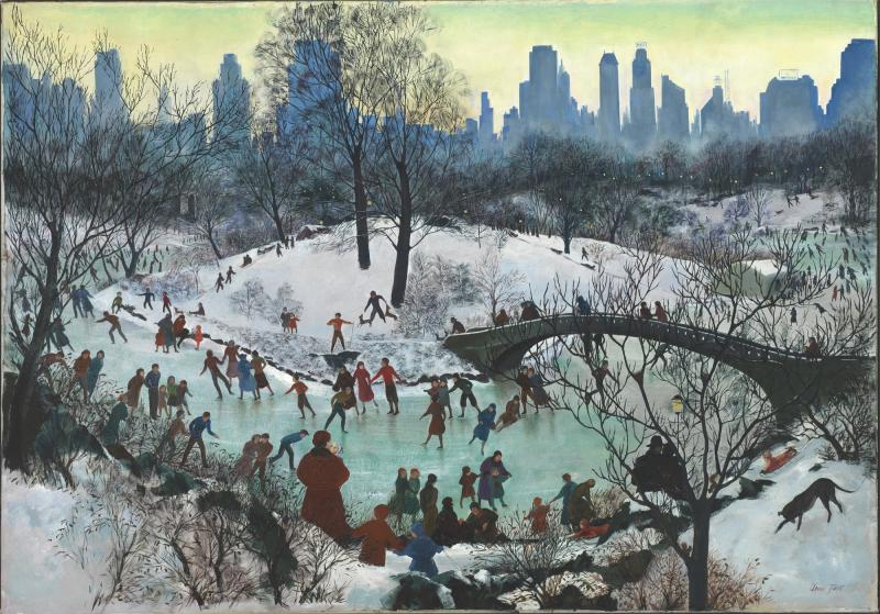 Agnes Tait - Skating in Central Park (1934)