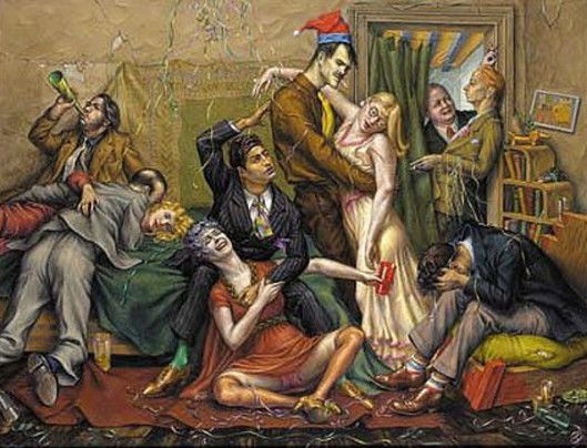Paul Cadmus - Seeing the New Year In