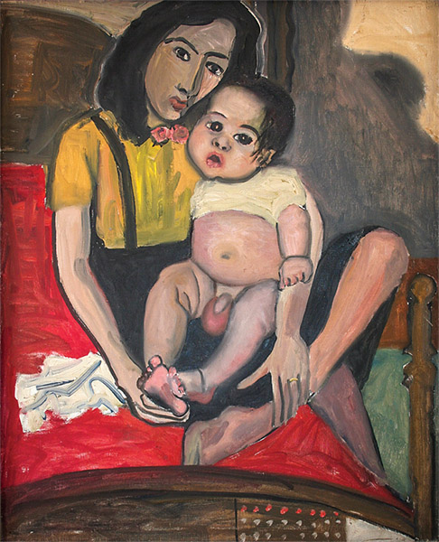 Alice Neel - Puerto Rican Mother and Child (Margarita and Carlitos) 1938