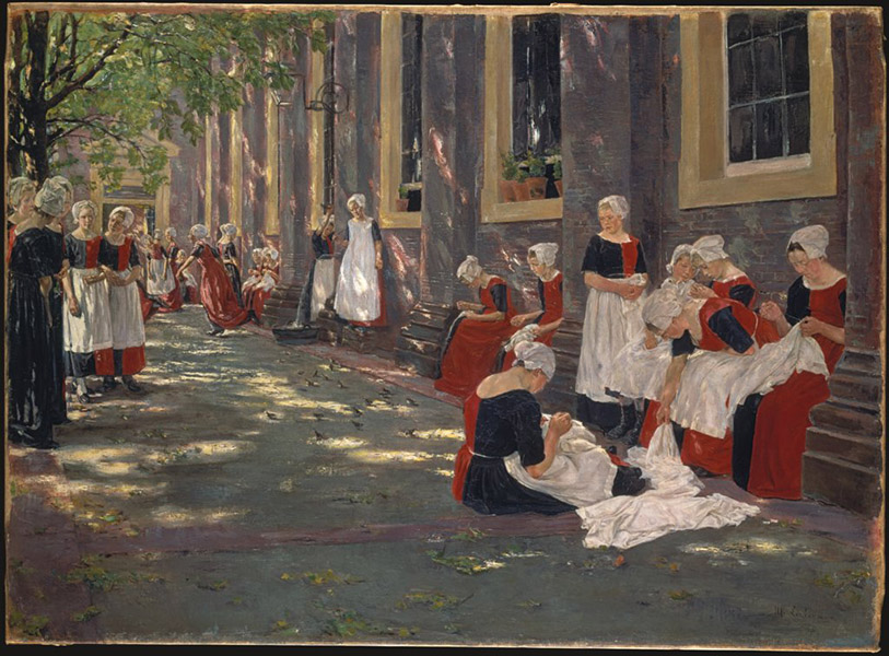 Max Liebermann - Free Period in the Amsterdam Orphanage 1881-1882