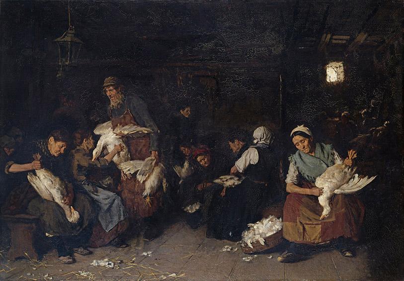 Max Liebermann - Women Plucking Geese (1871)