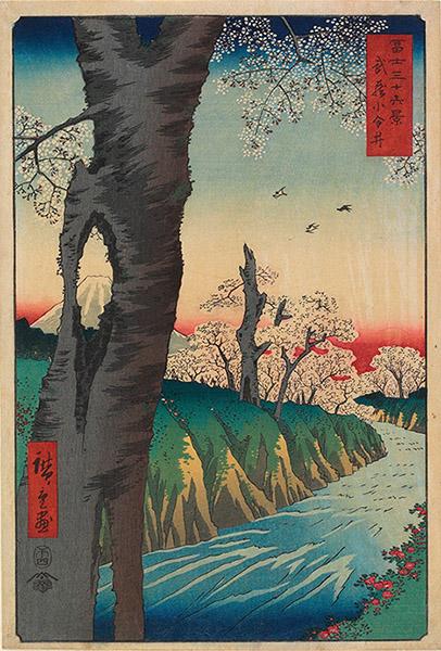 Utagawa Hiroshige - Koganei in Musashi Province (1858) Mia