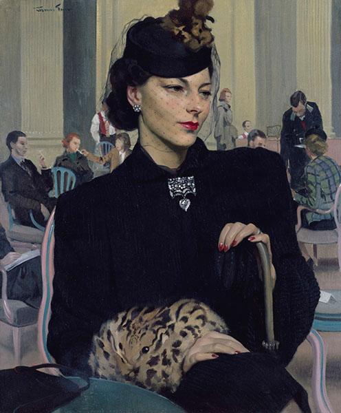 Herbert James Gunn – Pauline Waiting (1939), oil on canvas. Royal Academy of Arts, London