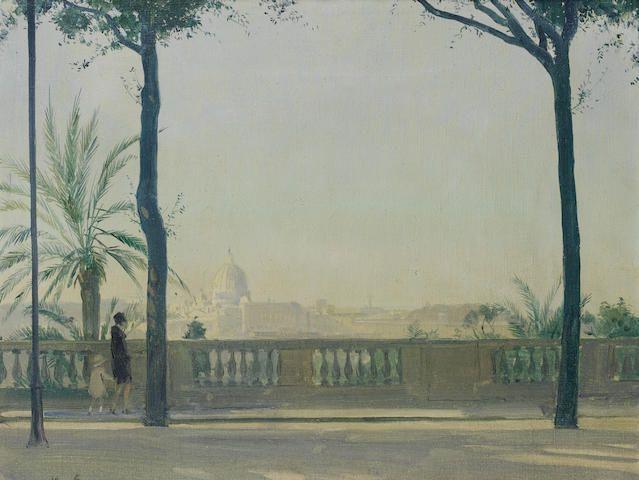 Herbert James Gunn - Rome from the Pincio, looking towards St. Peter's