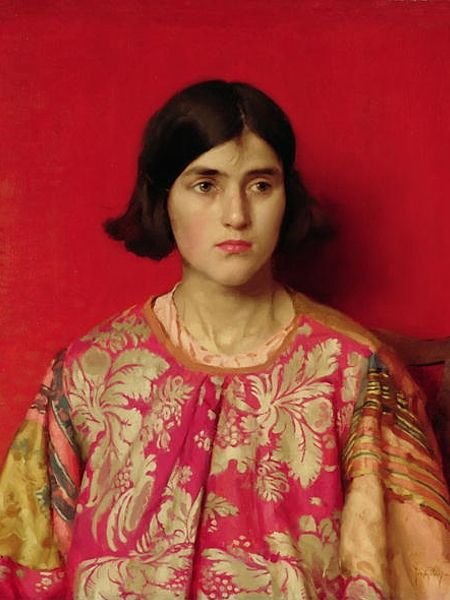 Thomas Cooper Gotch - The Exile Heavy is the Price I Paid for Love (1930)