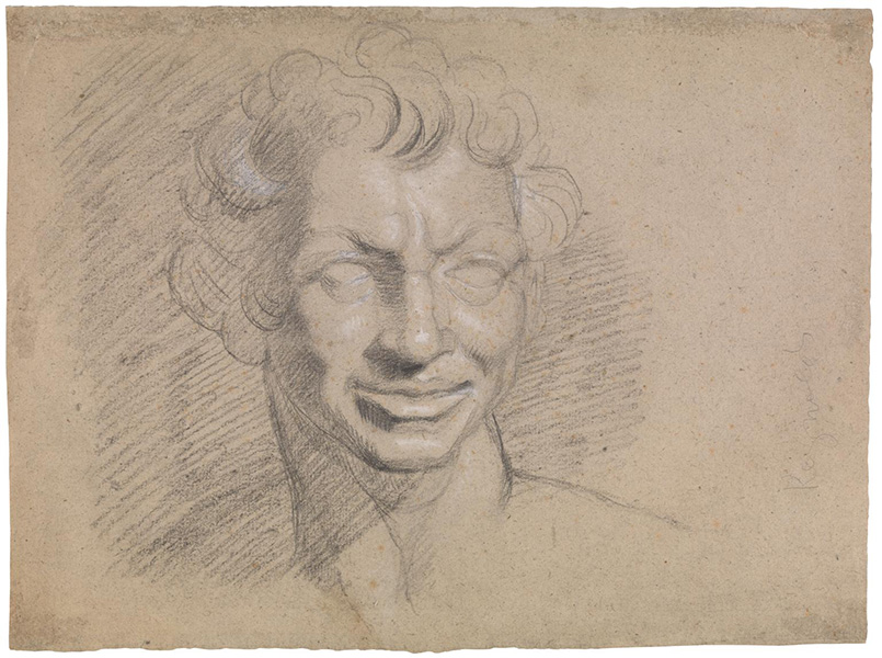 Self-Portrait as a Faun. Verso: Head of a Woman Three-Quarters to Left by Henry Fuseli 1741-1825