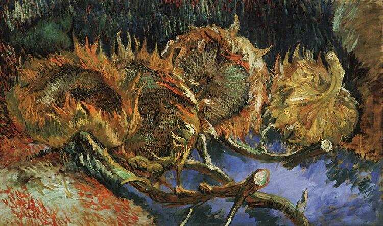 Vincent van Gogh - Four Withered Sunflowers