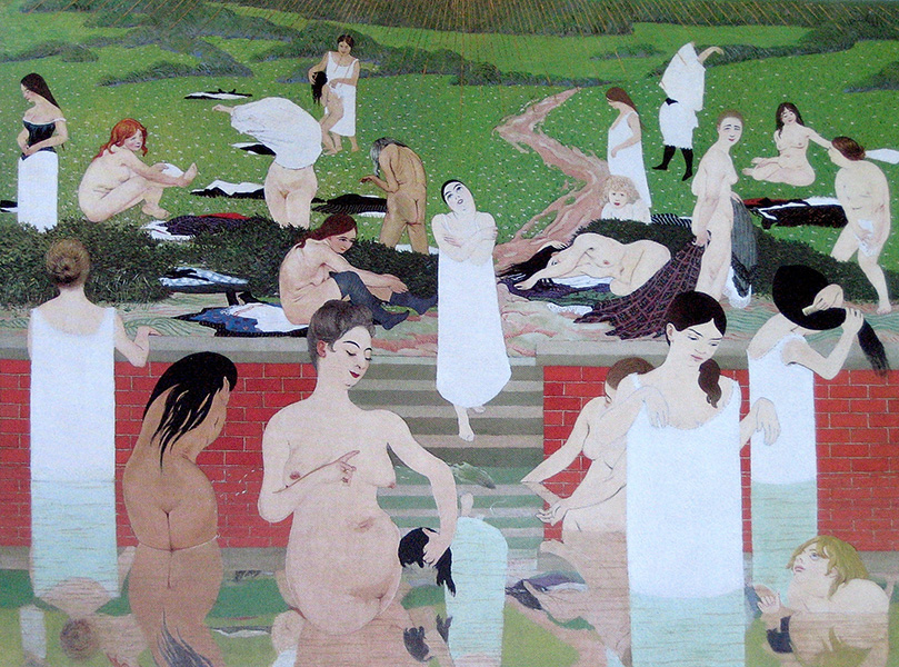 Felix Vallotton - The Bath. Summer Evening (1892 - 1893) 01