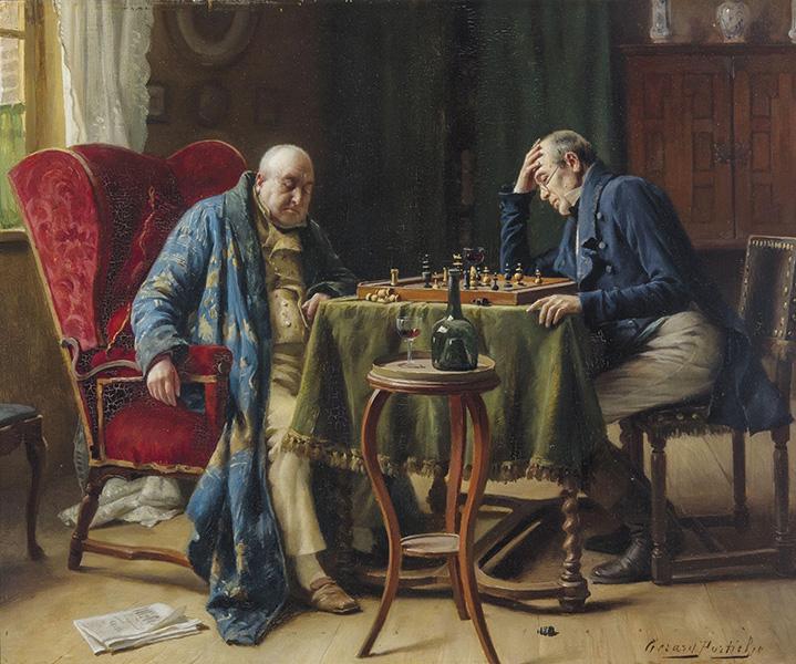 Gerard Portielje - The Chess Players
