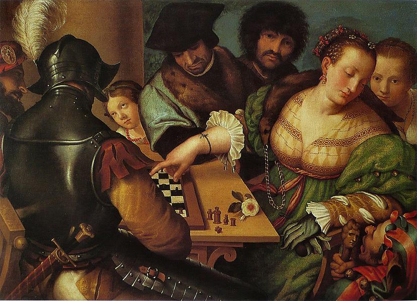 Giulio Campi – The Chess Game (c. 1530-1532)
