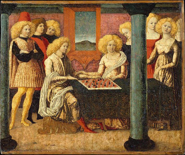 Liberale da Verona - The Chess Players (c. 1475)
